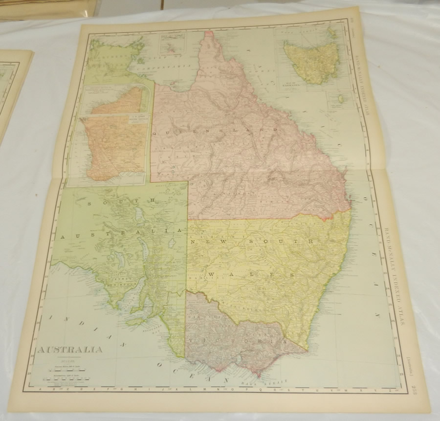 Australia street atlas strip maps