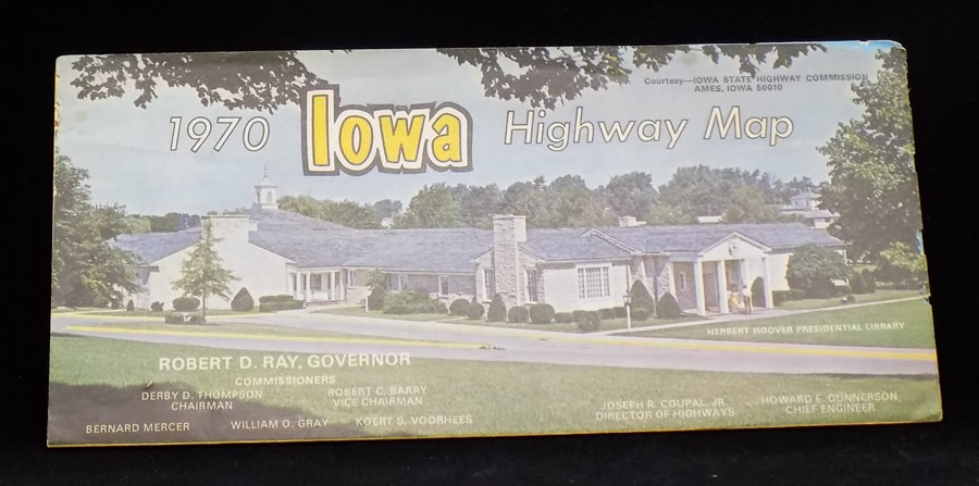 Details about 1970 Official State Road Map of IOWA