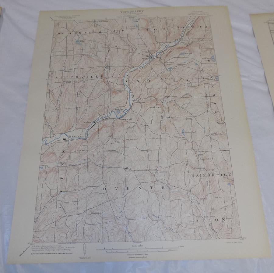 1904 Topographic Map of OXFORD QUADRANGLE, CHENANGO COUNTY, NEW YORK on